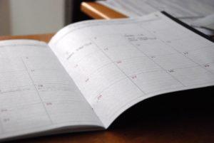 gestion calendrier mensuel avec le planning de travail
