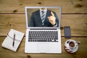 Entretien d'embauche à distance